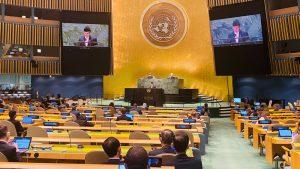 राष्ट्रसंघको ७६ औं महासभालाई परराष्ट्रमन्त्री खड्काको सम्बोधन- 'आतंकवाद मानव अस्तित्वको शत्रु'