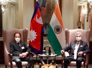 परराष्ट्रमन्त्री खड्का र भारतका विदेशमन्त्री जयशङ्करबीच भेटवार्ता