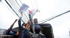 एमसीसी खारेजीको माग गर्दै अमेरिकी दूतावास अगाडी प्रदर्शन, दश जना पक्राउ
